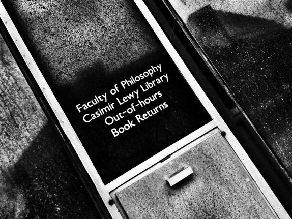 Casimir Lewy library out of hours book returns